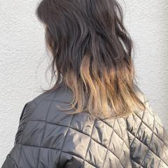 アンニュイほつれヘア ミディアム ストリート ダブルカラー ヘアスタイルや髪型の写真・画像