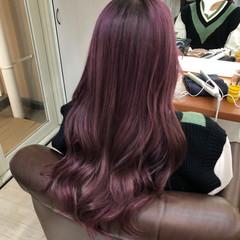 超音波 派手髪 ラズベリーピンク ピンク ヘアスタイルや髪型の写真・画像