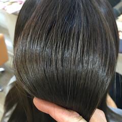 暗髪 アッシュ コンサバ イルミナカラー ヘアスタイルや髪型の写真・画像
