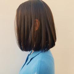 ボブ ニュアンスヘア ブラウンベージュ ベージュ ヘアスタイルや髪型の写真・画像