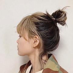 ヘアアレンジ ナチュラル ヘアカラー アッシュベージュ ヘアスタイルや髪型の写真・画像