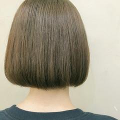 ボブ ナチュラル ベージュ カーキアッシュ ヘアスタイルや髪型の写真・画像