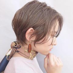 アンニュイほつれヘア ショート 小顔ショート ハンサムショート ヘアスタイルや髪型の写真・画像