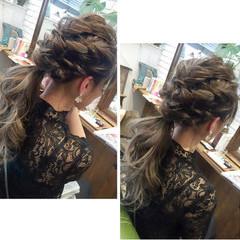 簡単ヘアアレンジ ロング エレガント 成人式 ヘアスタイルや髪型の写真・画像