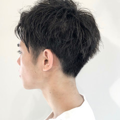 2ブロック ショート ナチュラル メンズスタイル ヘアスタイルや髪型の写真・画像
