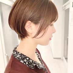 ナチュラル デート ショートヘア ショート ヘアスタイルや髪型の写真・画像