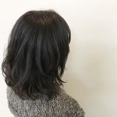 ボブ ナチュラル 冬 色気 ヘアスタイルや髪型の写真・画像