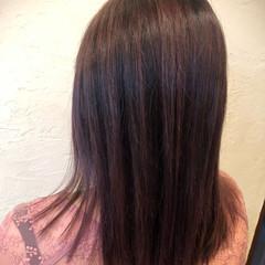 ガーリー ミディアム ピンクパープル ブリーチオンカラー ヘアスタイルや髪型の写真・画像