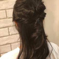 フェミニン 夏 イルミナカラー ヘアアレンジ ヘアスタイルや髪型の写真・画像