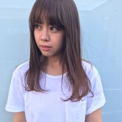 暗髪 前髪あり 外国人風 アッシュ ヘアスタイルや髪型の写真・画像