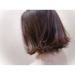 ナチュラル ハイライト ボブ アッシュ ヘアスタイルや髪型の写真・画像