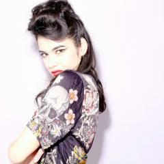 アップスタイル 外国人風 モード 暗髪 ヘアスタイルや髪型の写真・画像