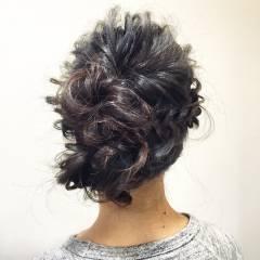簡単ヘアアレンジ 編み込み 大人かわいい ショート ヘアスタイルや髪型の写真・画像