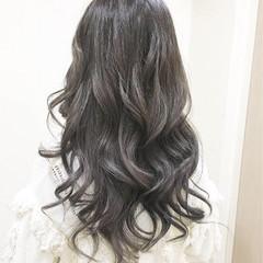 アッシュ ラベンダーアッシュ イルミナカラー ロング ヘアスタイルや髪型の写真・画像