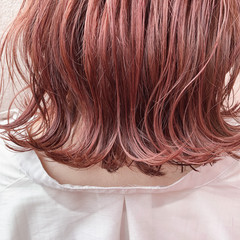 バレイヤージュ ミディアム 大人ハイライト 大人可愛い ヘアスタイルや髪型の写真・画像