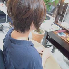 ショート 似合わせ 小顔 大人かわいい ヘアスタイルや髪型の写真・画像