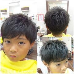 ショート 子供 メンズ 刈り上げ ヘアスタイルや髪型の写真・画像