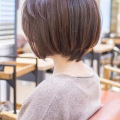 ナチュラル ショートカット ボブ ミニボブ ヘアスタイルや髪型の写真・画像