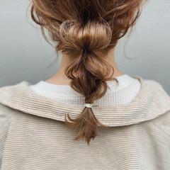 ミディアム 簡単ヘアアレンジ ナチュラル 編み込みヘア ヘアスタイルや髪型の写真・画像