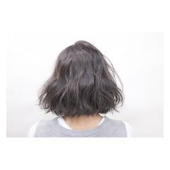 パーマ 暗髪 ハイライト 外国人風 ヘアスタイルや髪型の写真・画像