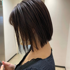 ボブ ショートヘア ミニボブ ナチュラル ヘアスタイルや髪型の写真・画像