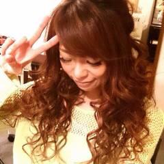 巻き髪 ヘアアレンジ ロング 甘め ヘアスタイルや髪型の写真・画像