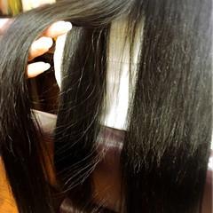 ストレート ナチュラル 黒髪 ロング ヘアスタイルや髪型の写真・画像