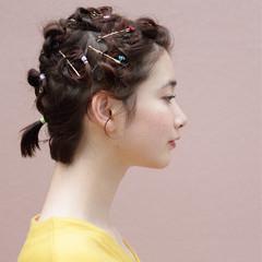 ショート ヘアアレンジ 謝恩会 デート ヘアスタイルや髪型の写真・画像