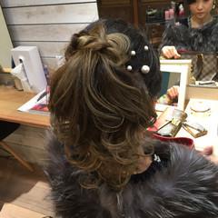 ヘアアレンジ ロング ポニーテール 編み込み ヘアスタイルや髪型の写真・画像