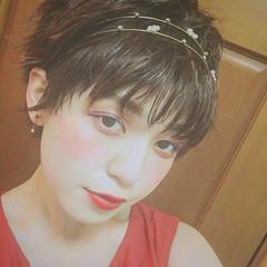 ゆるふわ ベリーショート フェミニン ガーリー ヘアスタイルや髪型の写真・画像