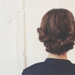 ヘアアレンジ 三つ編み ヘアアクセ ガーリー ヘアスタイルや髪型の写真・画像