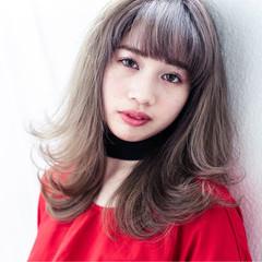 外ハネ 外国人風 ロブ ストリート ヘアスタイルや髪型の写真・画像