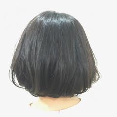 透明感 ハイライト ナチュラル ボブ ヘアスタイルや髪型の写真・画像