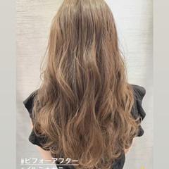 圧倒的透明感 ロング イルミナカラー 大人女子 ヘアスタイルや髪型の写真・画像