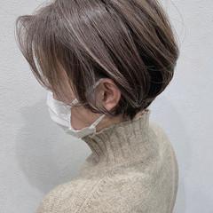 3Dハイライト 極細ハイライト ショート ショートボブ ヘアスタイルや髪型の写真・画像