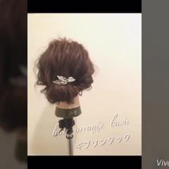 ショート ヘアアレンジ 簡単ヘアアレンジ ギブソンタック ヘアスタイルや髪型の写真・画像