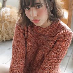 透明感 ウェットヘア オレンジ 外国人風 ヘアスタイルや髪型の写真・画像