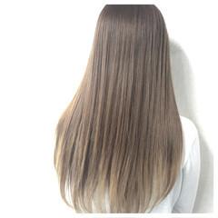 ロング 暗髪 グラデーションカラー ハイライト ヘアスタイルや髪型の写真・画像