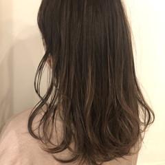 ナチュラル ハイトーンカラー セミロング ヘアカラー ヘアスタイルや髪型の写真・画像