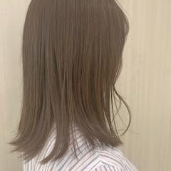 黒髪 セミロング デート コンサバ ヘアスタイルや髪型の写真・画像