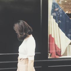 イルミナカラー 外国人風カラー ミディアム リラックス ヘアスタイルや髪型の写真・画像