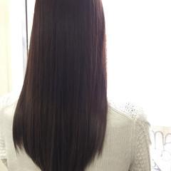 セミロング イルミナカラー ストレート 大人かわいい ヘアスタイルや髪型の写真・画像