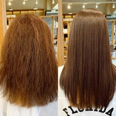 ロング ストレート トリートメント 髪質改善 ヘアスタイルや髪型の写真・画像
