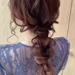 ゆるふわセット お呼ばれヘア ナチュラル ロング ヘアスタイルや髪型の写真・画像
