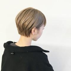 ハイトーンカラー モード ショートヘア ハンサムショート ヘアスタイルや髪型の写真・画像