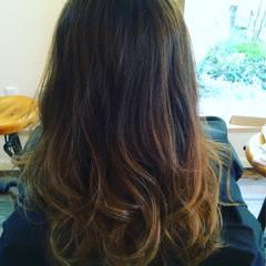 ロング 外国人風カラー 暗髪 グラデーションカラー ヘアスタイルや髪型の写真・画像