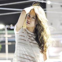 外国人風 フェミニン 大人かわいい ロング ヘアスタイルや髪型の写真・画像