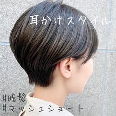 ベリーショート マッシュショート ショートヘア ナチュラル ヘアスタイルや髪型の写真・画像