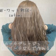 ミルクティーベージュ ベージュ オリーブグレージュ ナチュラル ヘアスタイルや髪型の写真・画像