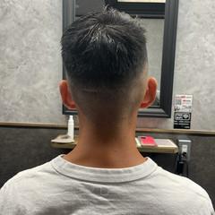 アップバング メンズパーマ ツイスパ ストリート ヘアスタイルや髪型の写真・画像